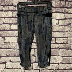 Athleta Black & Gray Crop Pants Size S